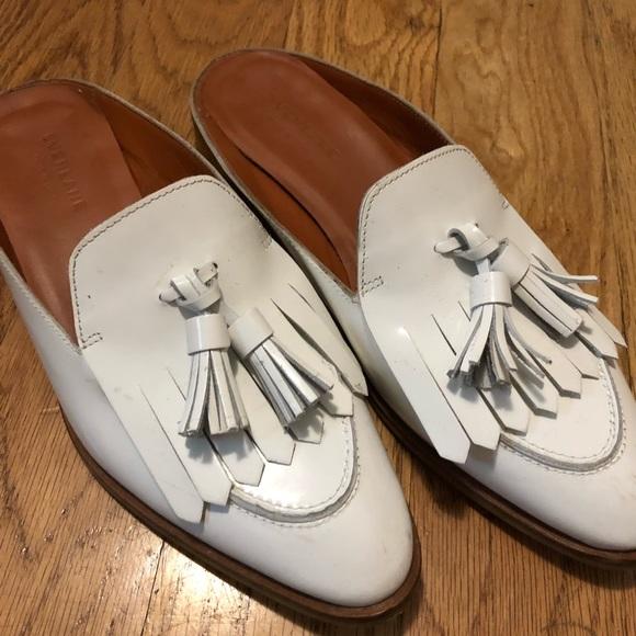 0c0f2ae5bd8 Everlane Shoes - Everlane Modern Tassel Loafer Mule - White
